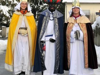 Caspar, Melchior und Balthasar auf Ihrem Weg durch Bad Buchau