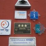 Auszeichnungen Hotel Pension Stern